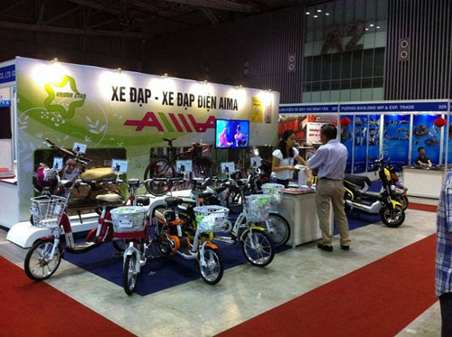 Xe điện AIMA - điểm sáng tại Saigon Autotech 2015 - 5