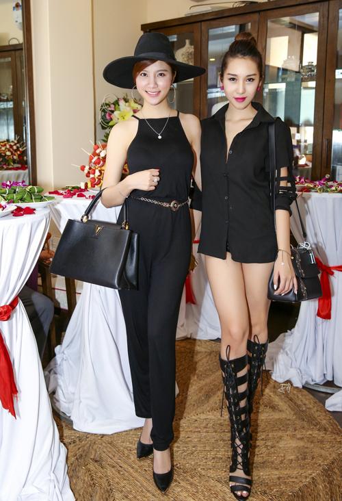 Trang Nhung diện váy đen khoe làn da trắng sứ - 8