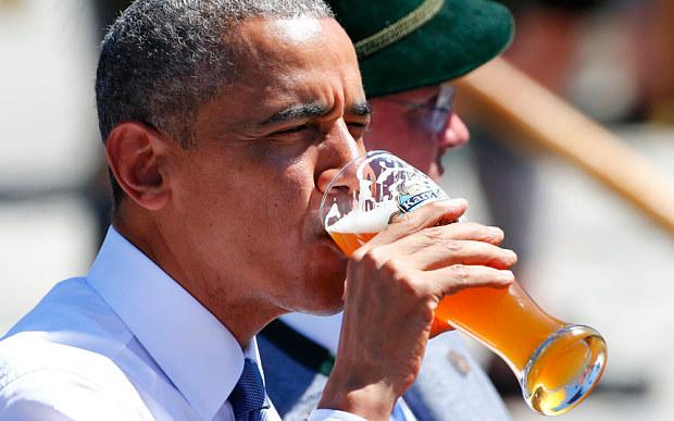 Vì sao Obama uống một vại bia trước khi họp G7? - 2