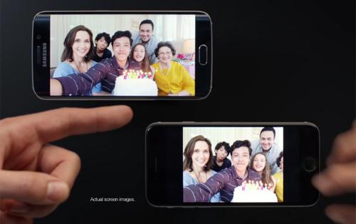 Samsung 'chế giễu' iPhone 6 trong quảng cáo S6 Edge - 1