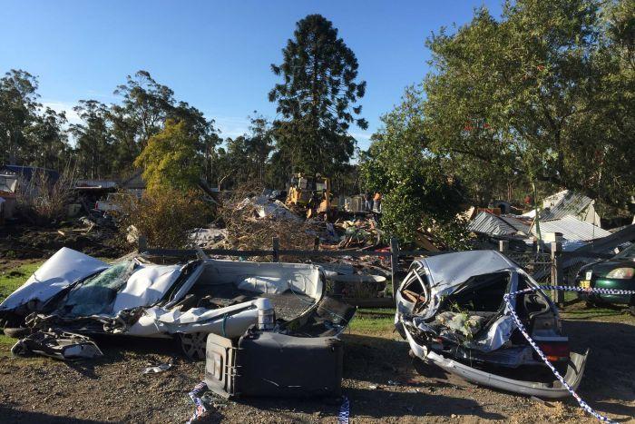 Úc: Trộm máy ủi san phẳng nhà người quen - 1