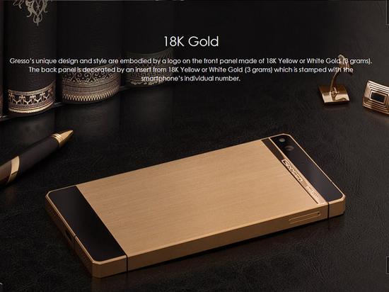 Điện thoại mạ vàng 18k Regal Gold tinh xảo - 2