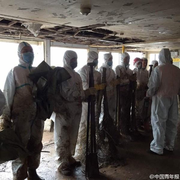 Cận cảnh bên trong con tàu chìm ở Trung Quốc - 13