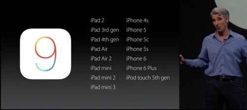 """15 thiết bị sẽ được """"lên đời"""" iOS 9, dung lượng 1,3GB - 1"""