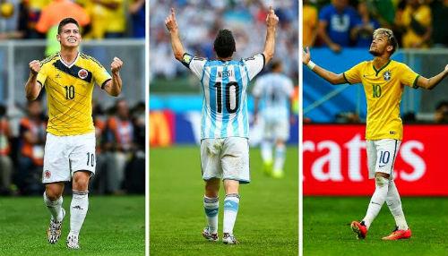 Vua phá lưới Copa America 2015: Liga đấu NHA - 2