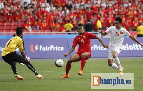 U23 Việt Nam – U23 Myanmar: Vận may ngoảnh mặt - 1
