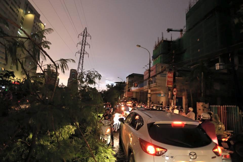 Ảnh: Giông lốc kinh hoàng, giao thông Hà Nội nhiều nơi tê liệt - 22