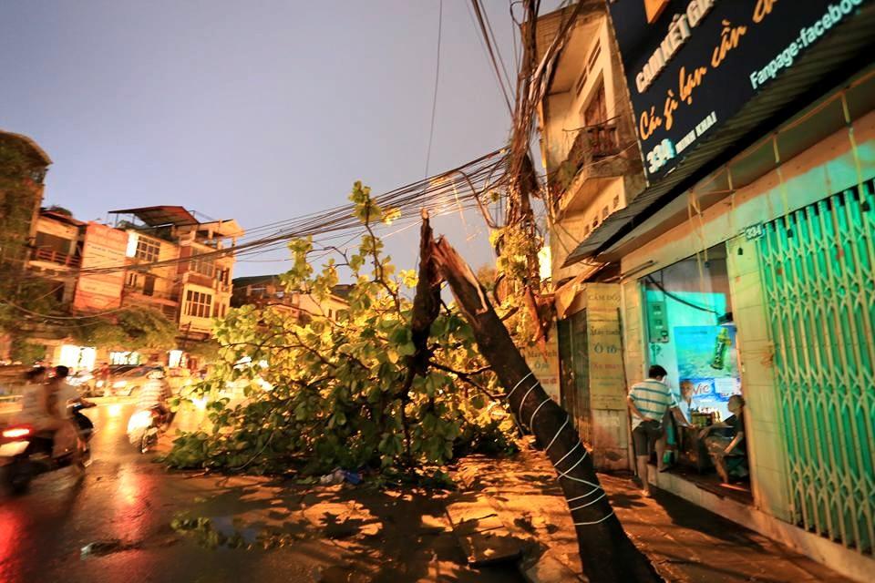 Ảnh: Giông lốc kinh hoàng, giao thông Hà Nội nhiều nơi tê liệt - 10