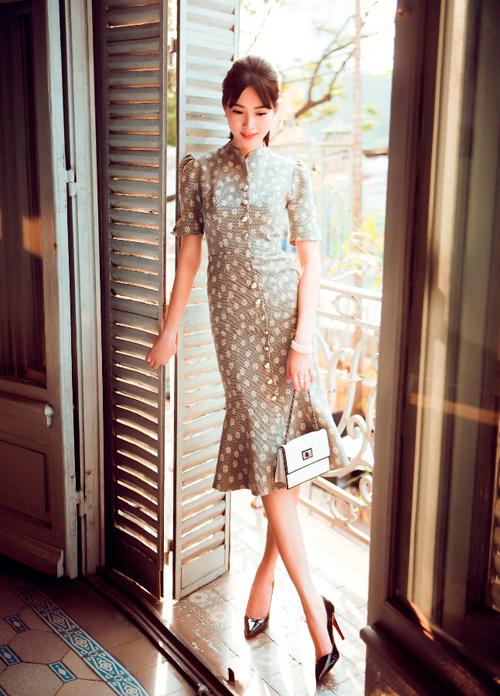 Hoa hậu Thu Thảo khoe dáng chuẩn nhờ váy bó sát - 4