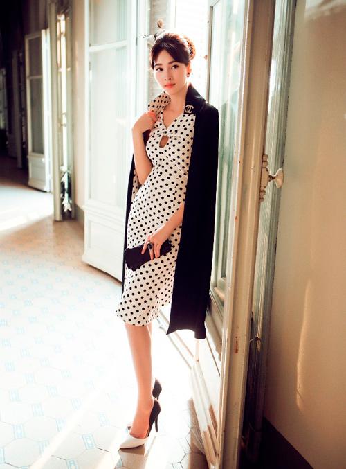 Hoa hậu Thu Thảo khoe dáng chuẩn nhờ váy bó sát - 6