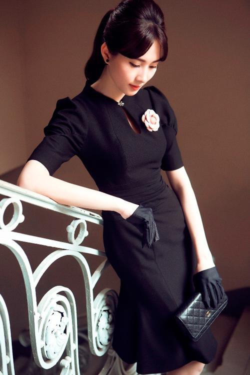 Hoa hậu Thu Thảo khoe dáng chuẩn nhờ váy bó sát - 12