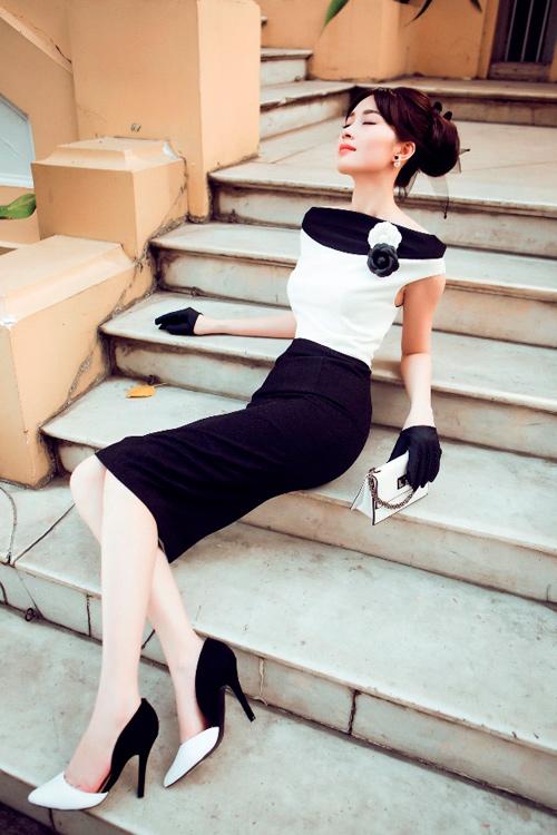 Hoa hậu Thu Thảo khoe dáng chuẩn nhờ váy bó sát - 11