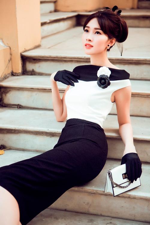 Hoa hậu Thu Thảo khoe dáng chuẩn nhờ váy bó sát - 10