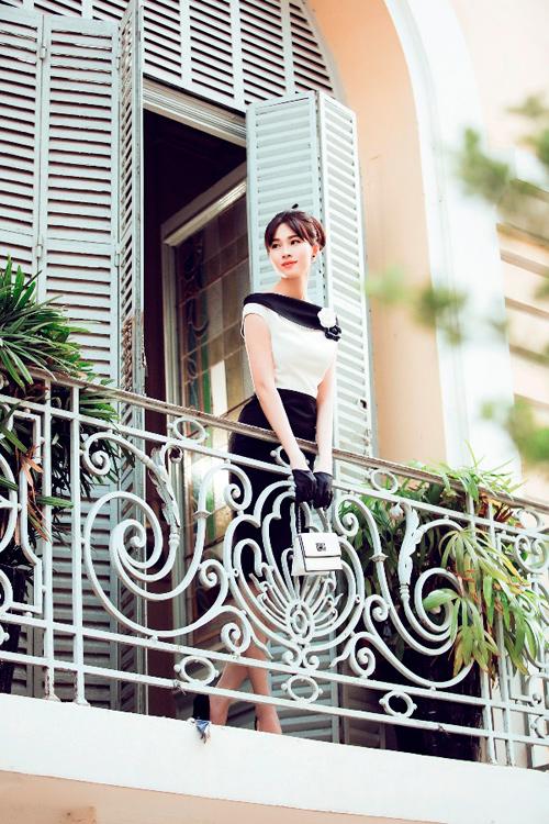 Hoa hậu Thu Thảo khoe dáng chuẩn nhờ váy bó sát - 9