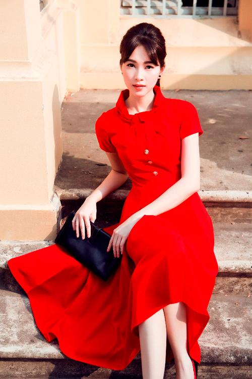 Hoa hậu Thu Thảo khoe dáng chuẩn nhờ váy bó sát - 15