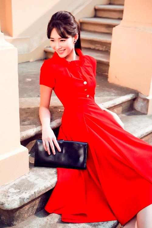 Hoa hậu Thu Thảo khoe dáng chuẩn nhờ váy bó sát - 13