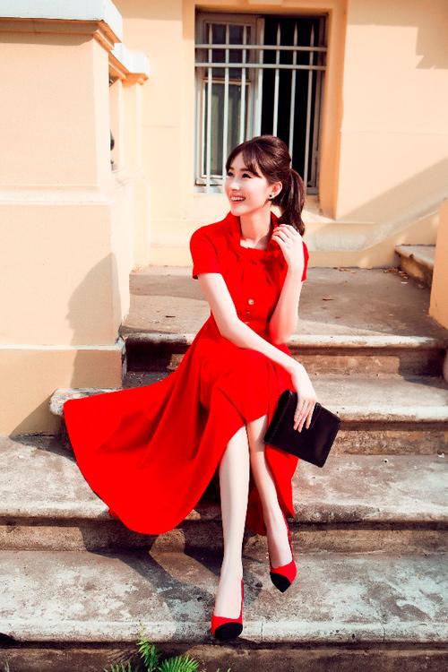 Hoa hậu Thu Thảo khoe dáng chuẩn nhờ váy bó sát - 14