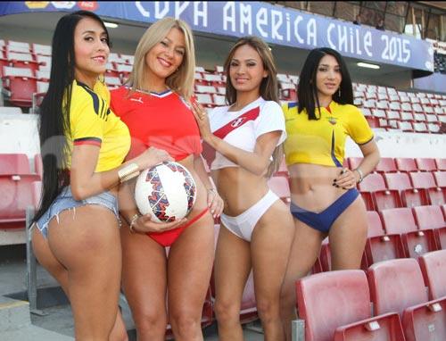 """Dàn mỹ nữ """"đốt cháy"""" Copa America 2015 - 7"""