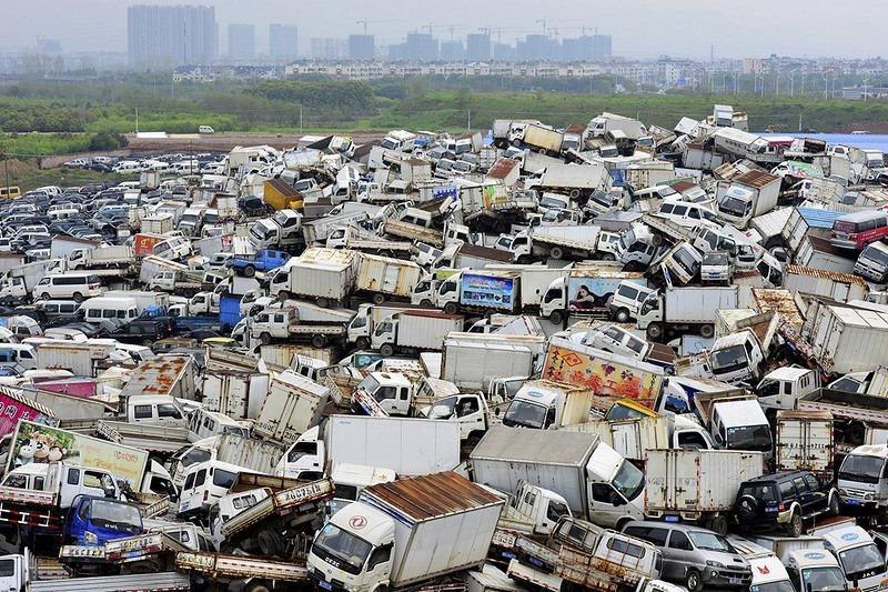 """""""Nghĩa địa"""" xe cộ khổng lồ trên khắp Trung Quốc - 6"""