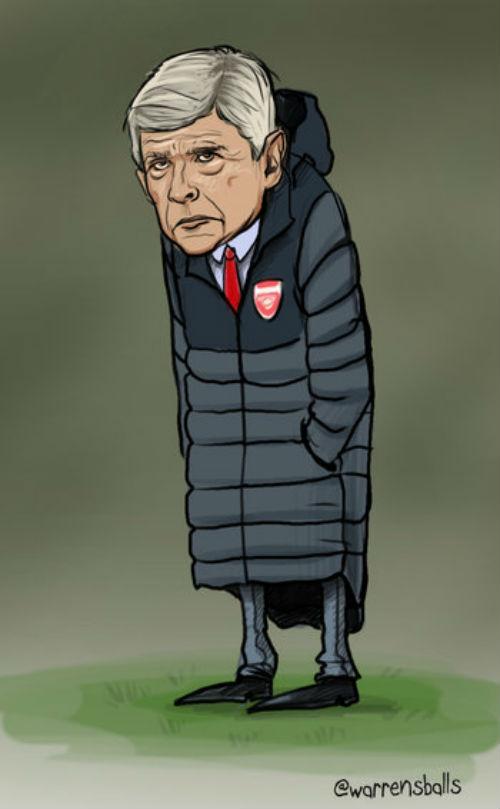 """Mặc áo siêu dị, HLV Wenger hóa thành """"thảm họa"""" - 11"""