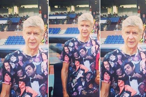 """Mặc áo siêu dị, HLV Wenger hóa thành """"thảm họa"""" - 2"""