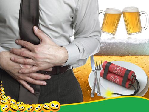 Men vi sinh ngừa tiêu chảy do ăn uống - rượu bia - 1