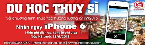 Thực tập hưởng lương tại Thụy Sĩ, nhận ngay iPhone 6 - 1