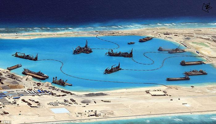 TQ tuyên bố sắp xây xong đảo nhân tạo ở Biển Đông - 1