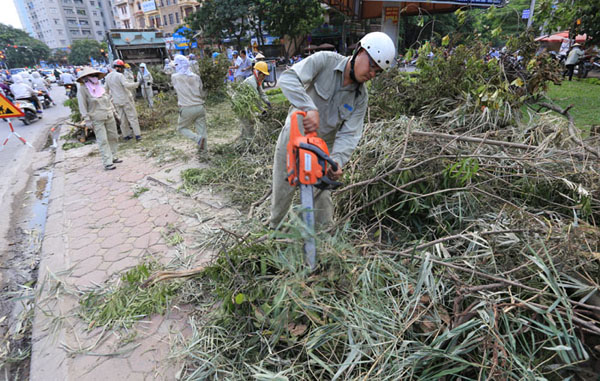 HN: 3 ngày sau dông lốc, cây đổ vẫn ngổn ngang trên đường - 10