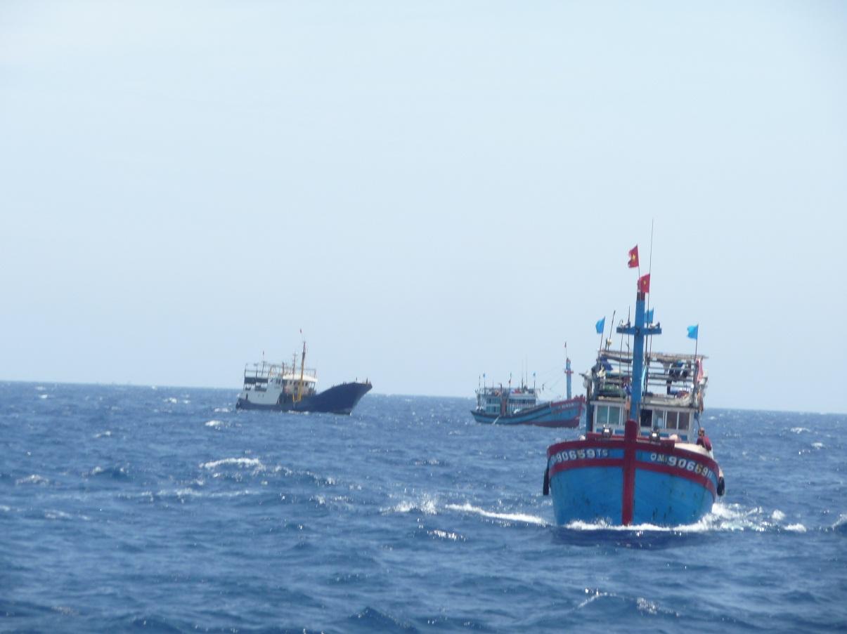 Tàu cá bị lốc đánh chìm, 32 người rơi xuống biển - 1