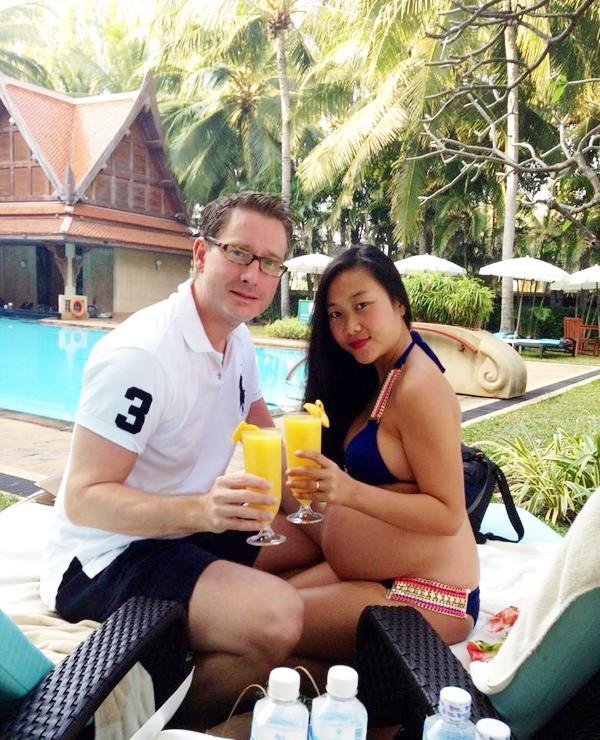 Nghệ sĩ Việt mang bầu vẫn tự tin diện bikini - 7