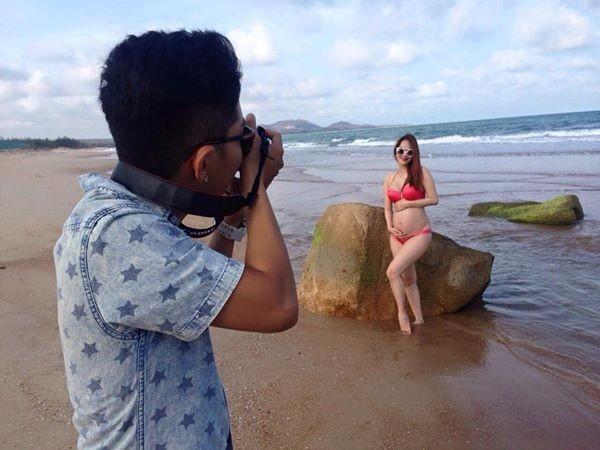 Nghệ sĩ Việt mang bầu vẫn tự tin diện bikini - 8
