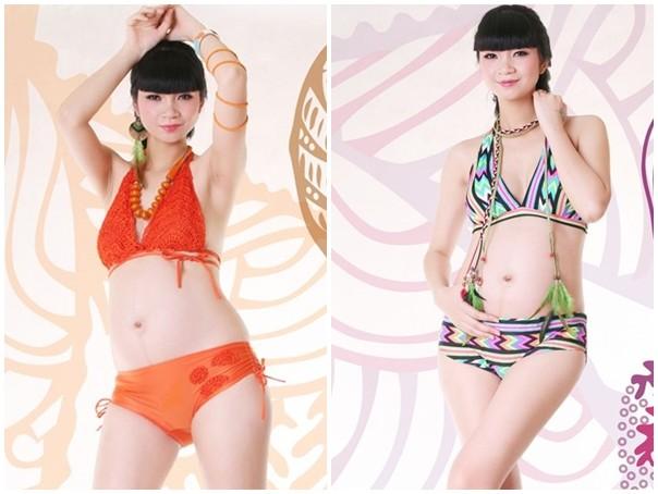 Nghệ sĩ Việt mang bầu vẫn tự tin diện bikini - 10