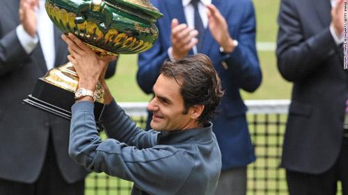 Lập siêu kỷ lục ở Đức, Federer mơ về Wimbledon - 1