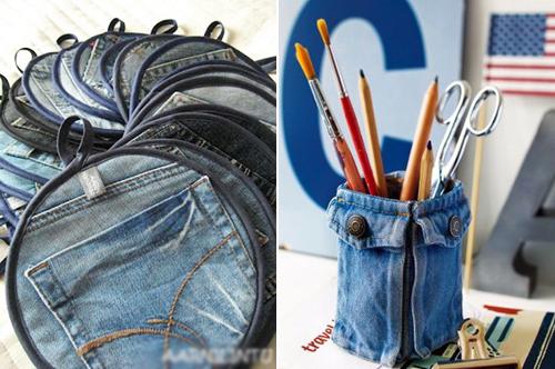 """1434935362 yxvo7 tsxy 1001 cách """"tái chế"""" quần jeans cũ"""