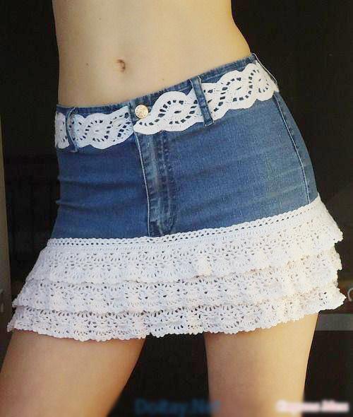 """1434935363 vwec2 aqav 1001 cách """"tái chế"""" quần jeans cũ"""