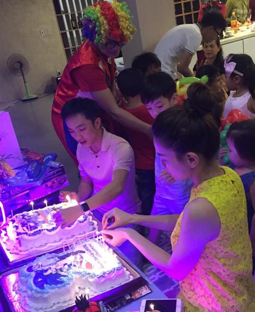 Hà Hồ, Quốc Cường vui vẻ trong sinh nhật con trai - 3