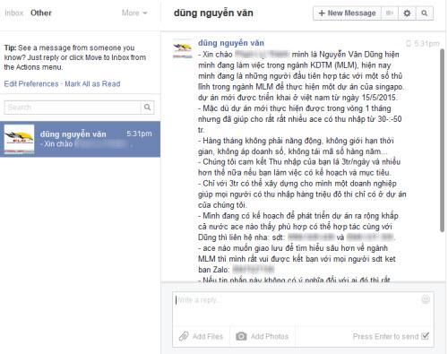 """Cách chặn tin nhắn rác như """"dịch bệnh"""" trên Facebook - 1"""