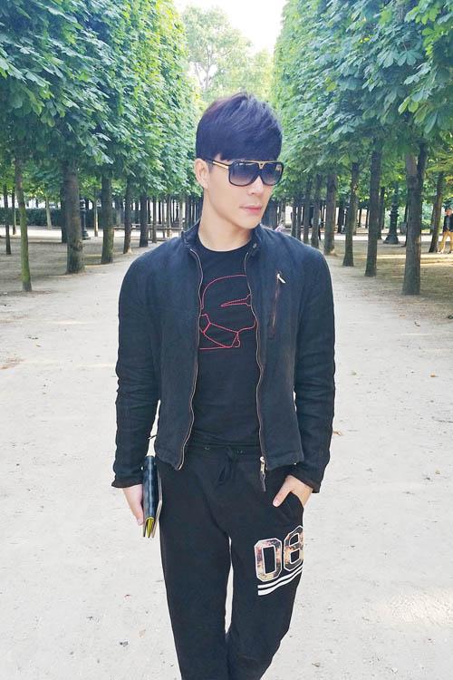 Nathan Lee khoe vẻ lãng tử trên phố Paris - 8