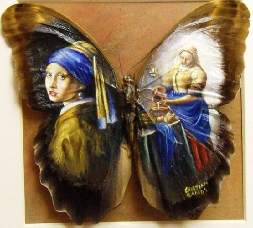 """Clip vẽ tranh trên cánh bướm """"hớp hồn"""" triệu người - 3"""