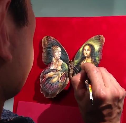 """Clip vẽ tranh trên cánh bướm """"hớp hồn"""" triệu người - 2"""