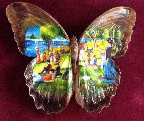 """Clip vẽ tranh trên cánh bướm """"hớp hồn"""" triệu người - 7"""