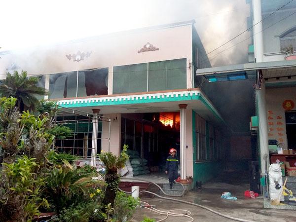 Tiền Giang: Cháy cơ sở sản xuất gia vị và tương ớt TNP - 1