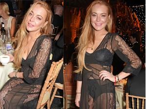 """Lindsay Lohan lờ đờ, già nua mặc """"váy ngủ"""" dự tiệc"""