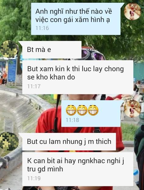 1435653685 sehn11693076 825390850901259 1460422259 n vunb Con gái xăm hình: Đàn ông Việt nghĩ gì?