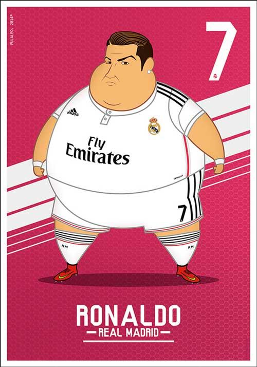 Bộ ảnh biếm họa các sao Real béo phì - 1