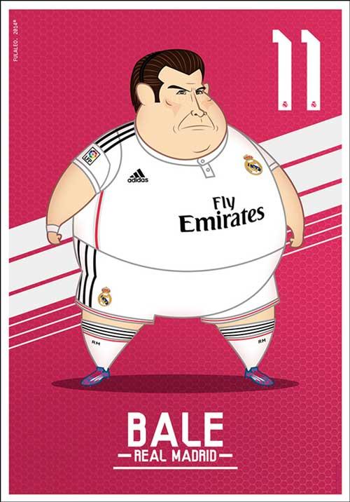 Bộ ảnh biếm họa các sao Real béo phì - 5
