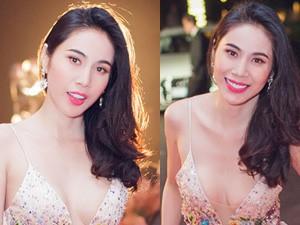 Thủy Tiên diện váy xẻ cực sâu trong đêm Phú Quốc