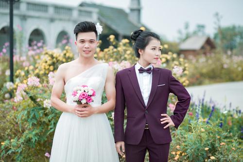 Ảnh cưới độc đáo: Cô dâu chú rể hoán đổi giới tính - 1