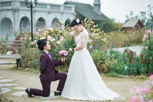Ảnh cưới độc đáo: Cô dâu chú rể hoán đổi giới tính - 3